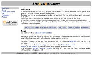 Game codes for bitcoins store