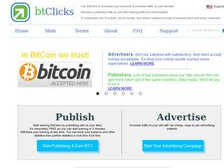 btClicks.com - Bitcoin Advertising & Publishing